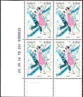 France Coin Daté N° 5083  **(1 Tiret)  Fête Du Timbre, Danse, Charleston Du 20.09.2016 - Hoekdatums