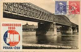 Pays Div -ref R30- Slovaquie - Bratislava - Vignettes - Vignette Esperanto - Ponts - Pont - Bridge   - Carte Bon Etat - - Slovaquie