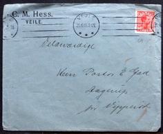 Denmark 1915 COVER  C.M.HESS  VIILE  Minr.68 ( Lot  3432) - 1913-47 (Christian X)