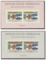HONDURAS Perforated And Imperforated Block Mint Without Hinge - Summer 1968: Mexico City