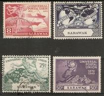 SARAWAK 1949 UPU SET SG 167/170  FINE USED Cat £11 - Sarawak (...-1963)