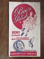 """Buvard : """"BEE'S POLISH"""", Secret De Beauté De La Chaussure - Chaussures"""