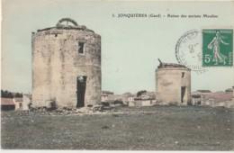 V27- 30) JONQUIERES (GARD) RUINES DES ANCIENS MOULINS - Altri Comuni