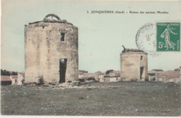 V27- 30) JONQUIERES (GARD) RUINES DES ANCIENS MOULINS - France