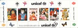 Mongolia 1996 MNH Sc #2247q Children, Scouting Emblem, UNICEF - Mongolie