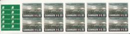 Denmark 2012 MNH Sc #1583a 6k Queen Alexandrine Bridge Booklet Of 10 + 10 Etiquettes - Carnets