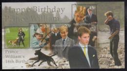 Falkland Islands 2000 MNH Sc #766 Prince William's 18th Birthday Sheet Of 5 - Falkland