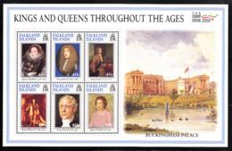 Falkland Islands 2000 MNH Sc #761 Elizabeth I, II, James II, George I, William IV, Edward VIII British Monarchs - Falkland