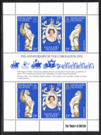 Falkland Islands 1978 MNH Sc #275 Elizabeth II 25th Ann Coronation Sheet Of 6 - Falkland