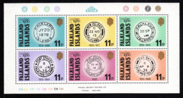 Falkland Islands 1980 MNH Sc #304 P O Cancels London 1980 Int'l Stamp Exhibition - Falkland