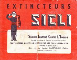 SAINT OUEN  FEUILLE DE GARANTIE..10.5 X 13 CM - Vieux Papiers