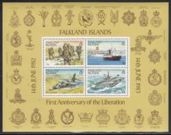 Falkland Islands 1983 MNH Sc #378a Military 1st Anniversary Liberation - Falkland