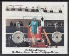 Falkland Islands Dependencies 1985 MNH Sc #1L96 Queen Mother On Britannia 85th Birthday - Falkland