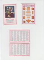 PUB LU - LEFEVRE UTILE - Calendrier , Chromo 1923 - JEUNE BRETONNE , Complet 4 Volets - 3 EXEMPLAIRES - Calendriers
