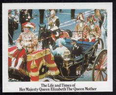 Fiji 1985 MNH Sc #535 Queen Mother In Royal Wedding Cavalcade 85th Birthday - Fidji (1970-...)