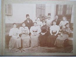Photographie Ancienne Cartonnée - Une Famille Turque ( ?) - 12,5 X 9 Cm. - TBE - Alte (vor 1900)