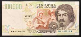 100000 Lire CARAVAGGIO 2° TIPO SERIE A 1994  LOTTO 599 - 100000 Lire