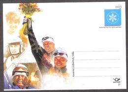 Skiing Federation 85 Estonia 2006 MNH Postal Stationary. Card # 37 World Champions Shmigun, Veerpalu - Ski