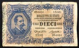 10 LIRE VITTORIO EM. III°  Dell'ara Righetti 1914 Rara LOTTO 562 - [ 1] …-1946 : Kingdom