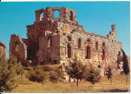 Syria Postcard Sent To Switzerland Alep 12-8-1978 (Ruins Of St. Simeon's Cathedral) - Syria