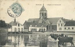 Etaples -  L'Eglise Et L'Abreuvoir - Etaples