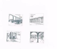 Monuments.MNH,Neuf Sans Charnière,Falzlos. Yvert 957/60 - Mexique