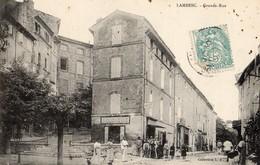 Lambesc  13   La Grande-Rue  Tres Tres Animée -Boucherie-Epicerie Et Café - Lambesc
