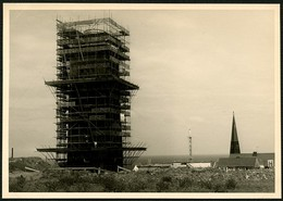 HELGOLAND Ca. 1960, FOTO-PK, ABB, INSTANDSETZUNG DES SIGNALTURMS, UNGELAUFEN! - Helgoland