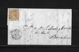 1861 Spanien, Brief Reus-Barcelona - Lettres & Documents