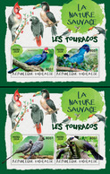 TOGO 2018 - Turacos II, 2 S/S. Official Issue. - Coucous, Touracos
