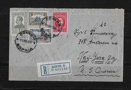 1925 Bulgarien, R-Brief Sofia-New York USA - 1909-45 Royaume