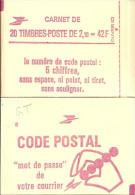 """CARNET 2319-C 4a Liberté De Delacroix """"CODE POSTAL"""" Daté 29/6/84 (bas) Fermé Bas Prix Parfait état RARE - Carnets"""