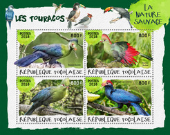 TOGO 2018 - Turacos I. Official Issue. - Coucous, Touracos