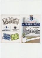 PUB - Cognac -  V. FOURNIER - 20 X 15 CM - Alcools