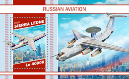 SIERRA LEONE 2018 - Russian Aviation S/S. Official Issue - Vliegtuigen