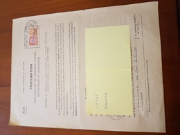TIMBRE FISCAL 240F ORANGE SUR PROCURATION POSTALE - Revenue Stamps