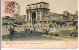 L200A_162 - Marseille - 22 La Place D'Aix Et L'Arc De Triomphe - Monuments