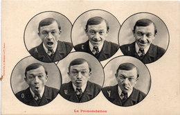 BERGERET - La Prononciation - 6 Portraits ...   (111498) - Bergeret