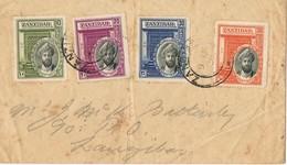 31386. Carta Interior ZANZIBAR 1936. Sultan Ibn Harub - Zanzibar (1963-1968)