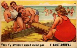 80 - Vous N'y Arriverez Quand Même Pas !  à AULT-ONIVAL - Carte Avec Dépliant - Ault
