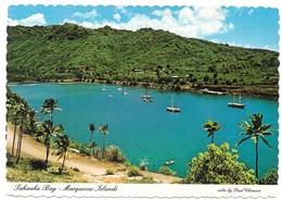 Polynésie Française Iles Marquises La Baie De Tahauku Et Son Wharf Publicité Air New Zealand - Polynésie Française