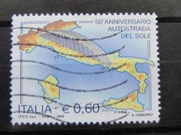 *ITALIA* USATI 2006 - 50° AUTOSTRADA DEL SOLE - SASSONE 2920 - LUSSO/FIOR DI STAMPA - 6. 1946-.. Repubblica