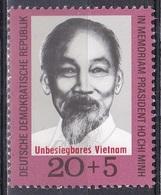 Deutschland Germany DDR 1970 Geschichte History Persönlichkeiten Politiker Politicians Ho Chi Minh Vietnam, Mi. 1602 ** - DDR