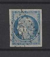 FRANCE  YT  N° 4  Obl  1850 - 1849-1850 Cérès