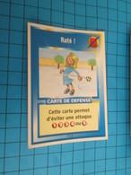 """1551-1575 : TRADING CARD 1991 JEU """"CANAILLES"""" PANINI / RATé ! - Trading Cards"""