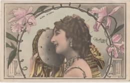 W1- ARTISTE  FEMME - NINA D'ASTY PAR REUTLINGER A PARIS - (OBLITERATION DE 1904 - 2 SCANS) - Entertainers