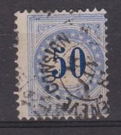 SUISSE TAXE 1878-82 : 50  Bleu Type II N, Oblitéré - Portomarken