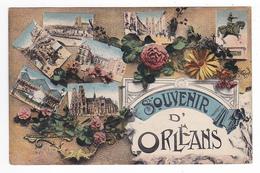 45 Souvenir D'Orléans En 1920 En 7 Vues VOIR DOS Imp Le Deley Paris - Orleans