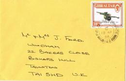 31395. Carta GIBRALTAR 1988. FIELD POST Office. Theme Armas Cañon Gun How - Gibilterra