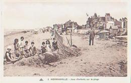 Calvados        1716        Hermanville.Jeux D'enfants Sur La Plage - France